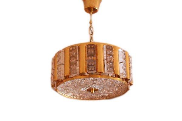 Crystal Pendant Lamp by Hans Agne Jakobson for Orrefors, 1970s