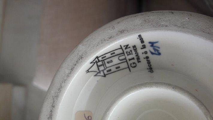 Vintage Gien Vase Vase De Faiancerie1950s Vintage CBWdxQroe