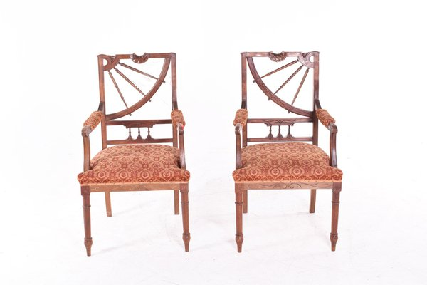 Vintage Art Nouveau Dining Chairs Set Of 2 For Sale At Pamono