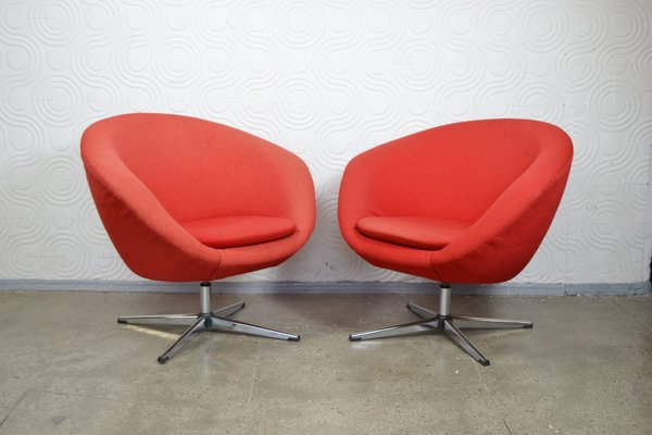 Charmant Mid Century Swivel Chairs By Carl Eric Klote For Overman, 1960s, Set Of 2