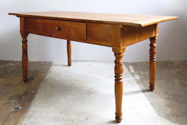 Antique Cherry Kitchen Table 1890s For