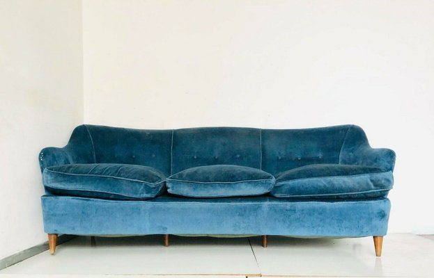 Amazing Vintage Blue 3 Seater Sofa By Gio Ponti 1960S Uwap Interior Chair Design Uwaporg