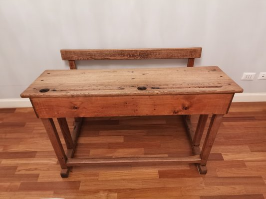 Vintage School Desk Bench For Sale At Pamono