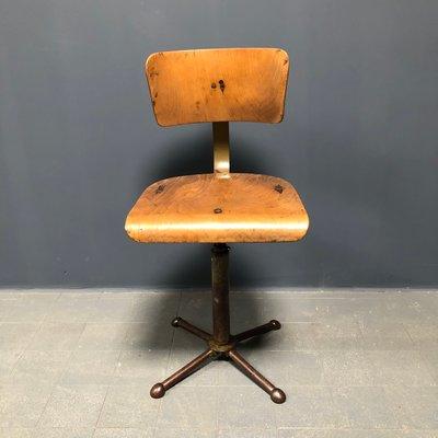 Chaise De Bureau Industrielle Allemagne 1940s