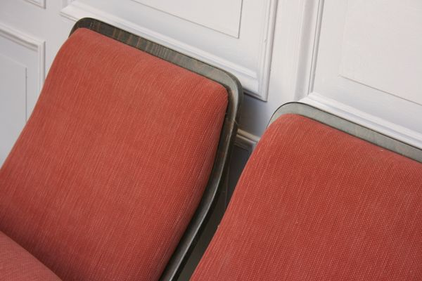 Super Vintage Twin Cinema Seat Bench Bralicious Painted Fabric Chair Ideas Braliciousco