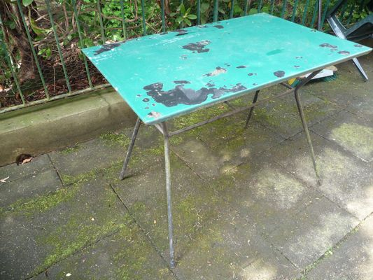 Table de Jardin Vintage en Fer en vente sur Pamono