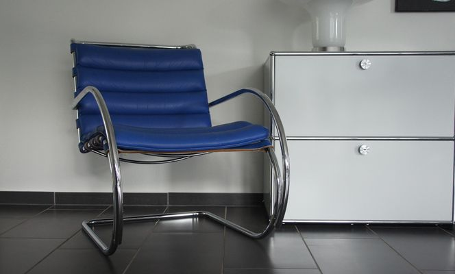 Fine Mr Lounge Chair By Mies Van Der Rohe For Knoll Inc 1990S Squirreltailoven Fun Painted Chair Ideas Images Squirreltailovenorg