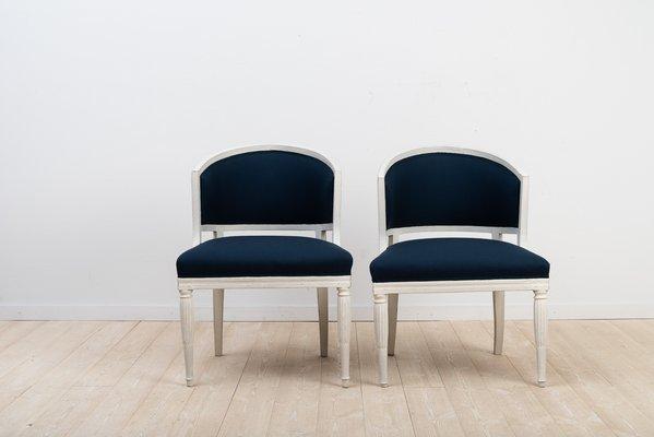 Antique Swedish Barrel Back Chairs, Set Of 2