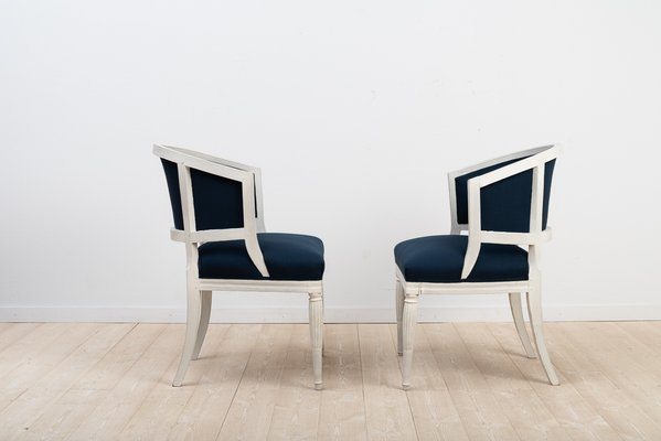 Antique Swedish Barrel Back Chairs Set Of 2 For Sale At Pamono