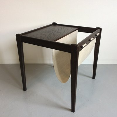 Mid Century Danish Side Table With Magazine Rack From Brdr Furbo