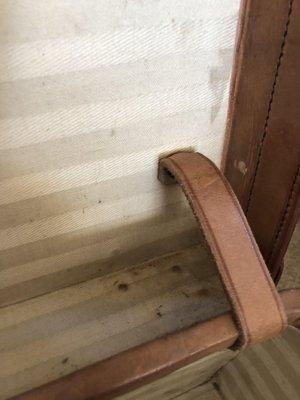 Groovy Vintage English Leather Suitcase 1940S Machost Co Dining Chair Design Ideas Machostcouk