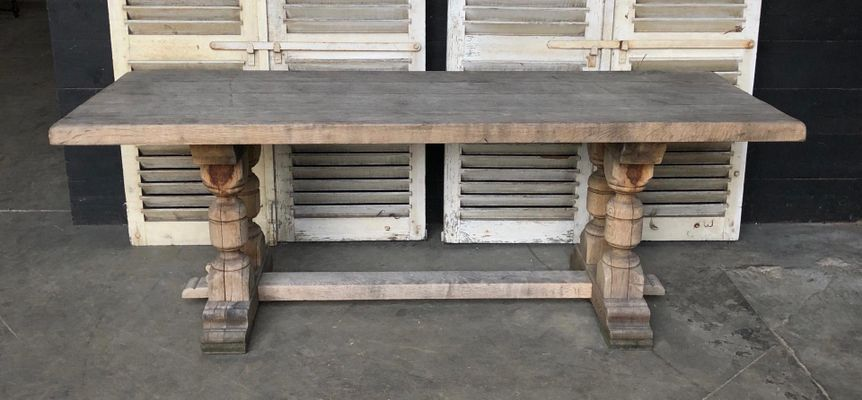 Antique French Oak Kitchen Dining Table 1