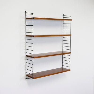 Antique Furniture String Shelf Nisse Wall Shelf 1960s 70s Shelf System 3 Other Reproduction Furniture