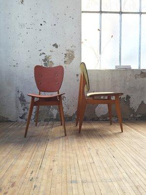 2 Du En Des De Vosges1950sSet L'atelier Chaises Bois Courbé w0mN8n