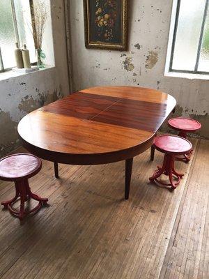 Runder dänischer Mid Century Tisch aus Palisander