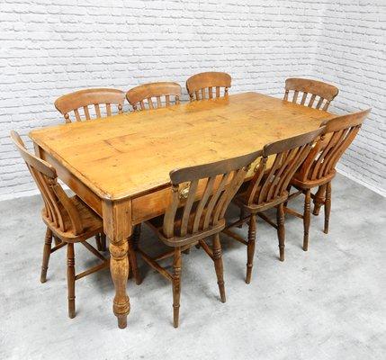 Superbe Antique Pine Farmhouse Table 2
