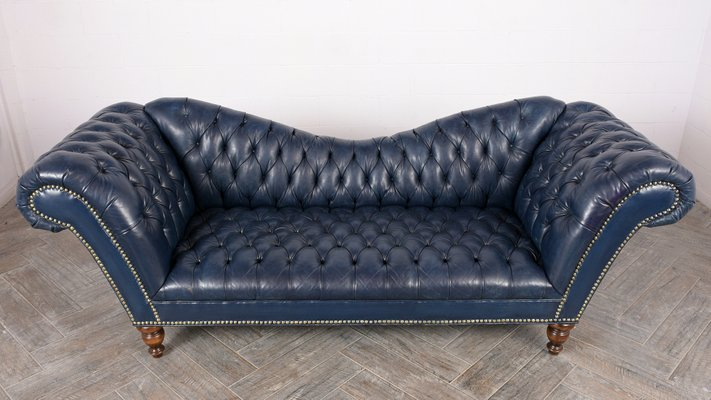 Style Chesterfield Tufted Leather Sofa