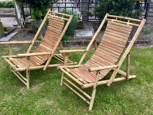 chaise de bureau en bambou