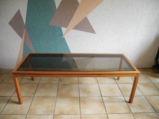 Großer Couchtisch mit Glasplatte, 1960er