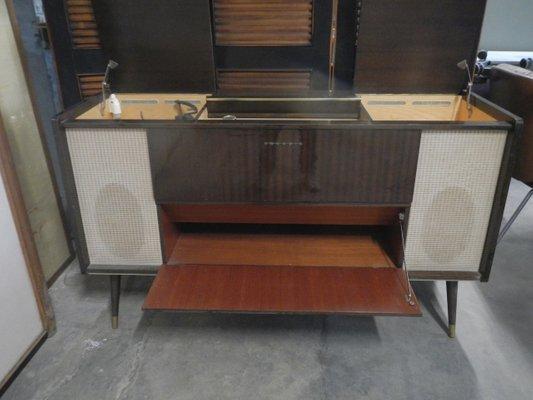 Meuble Hi Fi Avec Tourne Disque Vintage De Grundig