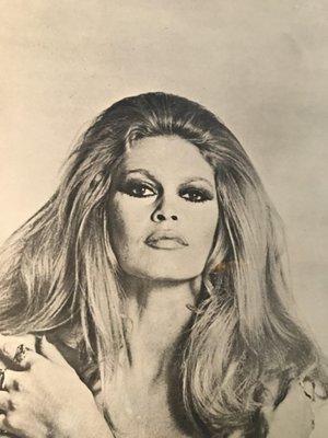 Vintage Brigitte Bardot Poster From Synergisms 1970s