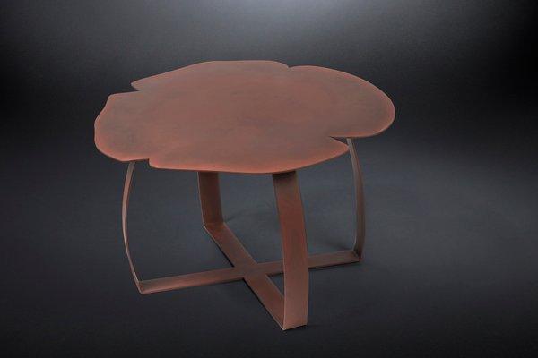 Table Basse Andy en Fer Couleur Rouille de VGnewtrend