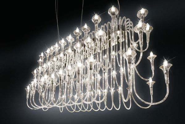 Large Borosilicate Gl Steel 72 Light Octopus Chandelier From Vgnewtrend