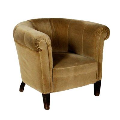Vintage Italian Velvet Armchair 1940s For Sale At Pamono