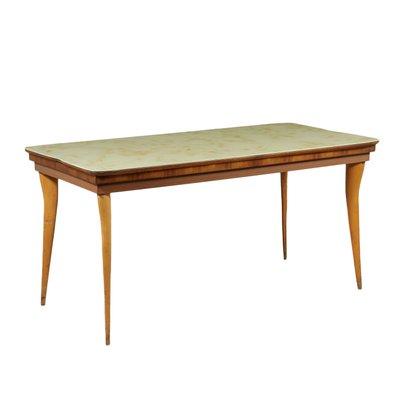 Vintage Tisch Aus Buche Glas Marmor Bei Pamono Kaufen