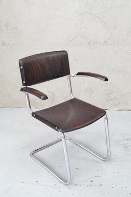Pour Par Co1950s Chaise De Bremsheyamp; Bauhaus Stam Bureau Mart Chromée nmNO8wv0