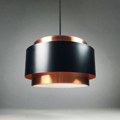 Mid Century Danish Modern Vintage Cylinder Pendant Lamp Lyskaer Fog /& Morup
