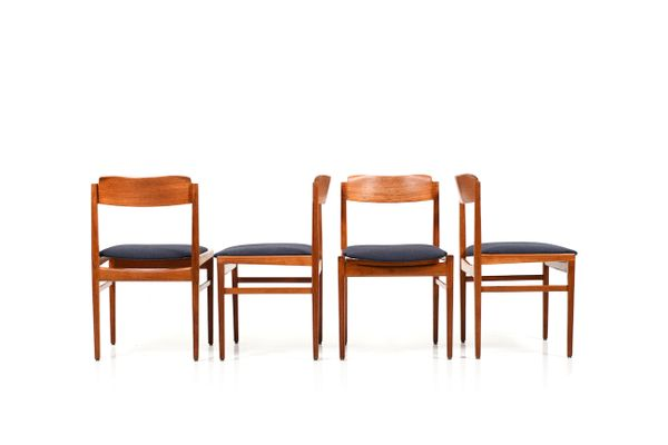 07cb3ef733f5 Vintage Danish Teak Dining Chairs, Set of 4 for sale at Pamono