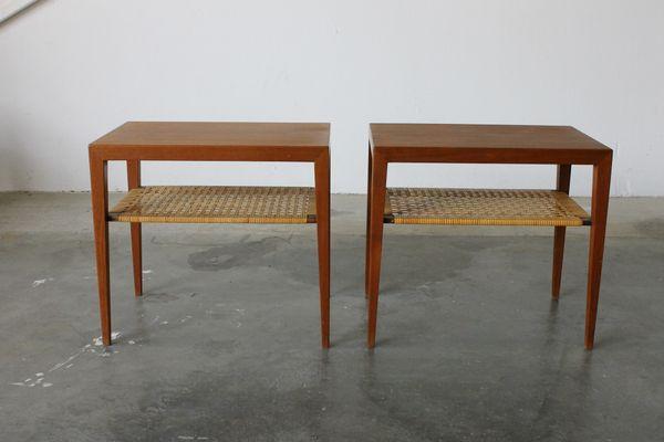 Side Tables By Severin Hansen For Haslev Mobelsnedkeri, 1960s, Set Of 2 1