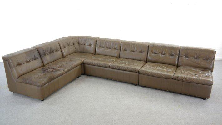 Stupendous Large Vintage Modular Leather Sofa Ibusinesslaw Wood Chair Design Ideas Ibusinesslaworg