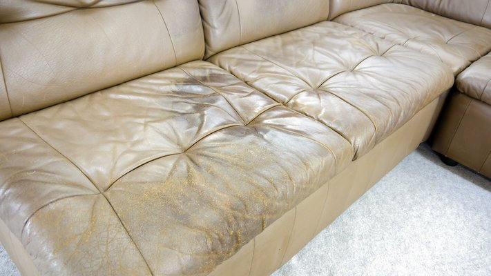 Outstanding Large Vintage Modular Leather Sofa Ibusinesslaw Wood Chair Design Ideas Ibusinesslaworg