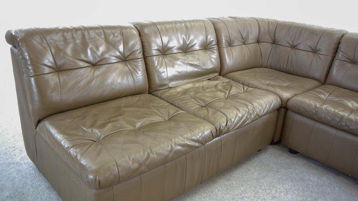 Amazing Large Vintage Modular Leather Sofa Ibusinesslaw Wood Chair Design Ideas Ibusinesslaworg
