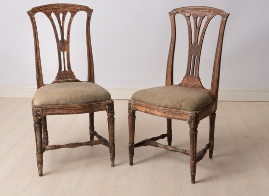 Swedish Gustavian Chairs 1770s Set Of 2 For Sale At Pamono