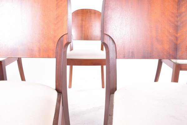 Sensational Art Deco Style Dining Chairs 1940S Set Of 6 Machost Co Dining Chair Design Ideas Machostcouk