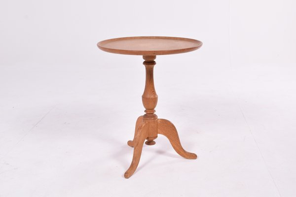 Antique Round Oak Side Table For