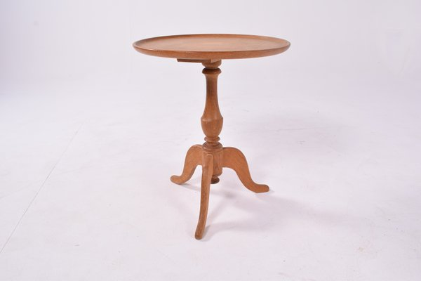 Antique Round Oak Side Table