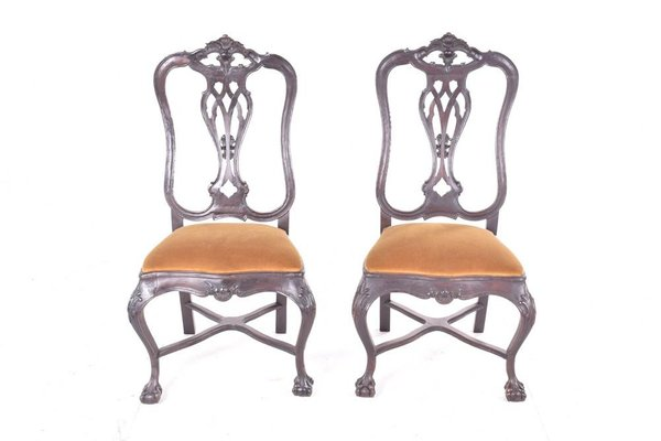 Brilliant Antique Portuguese Dining Chairs By D Jose Set Of 2 Unemploymentrelief Wooden Chair Designs For Living Room Unemploymentrelieforg
