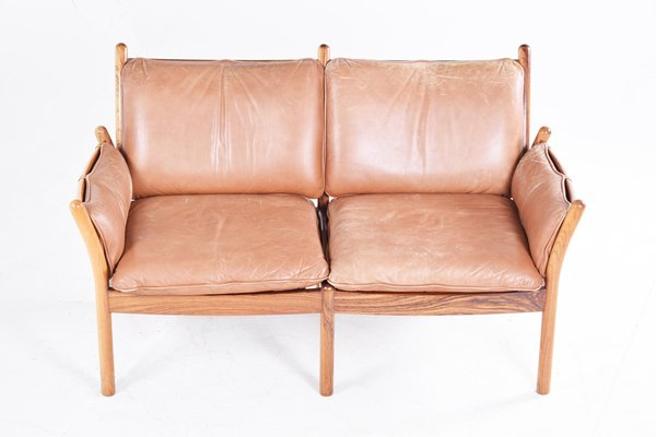 Superbe Vintage EB349 Two Seater Sofa By Illum Wikkelso For CFC