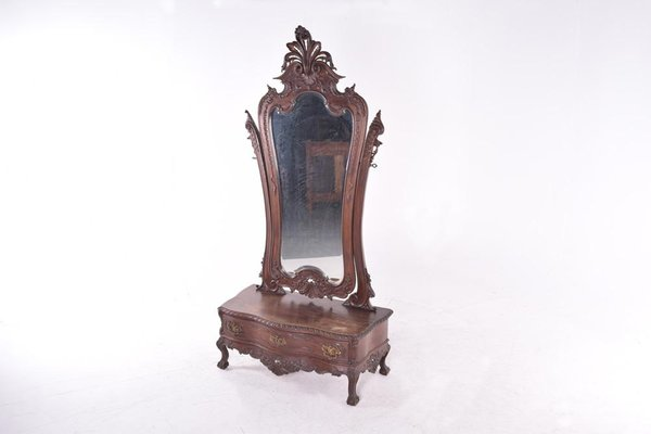 Antique Rosewood Dressing Table With, Vintage Style Vanity Table With Mirror