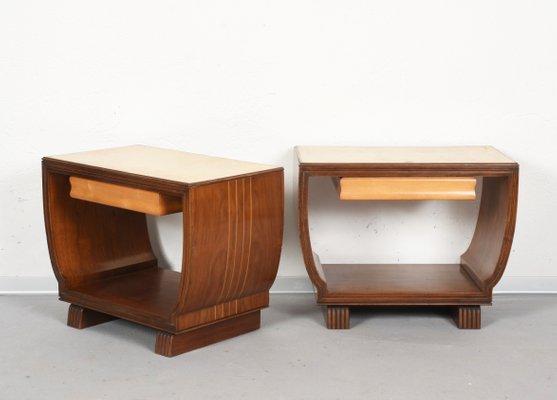 Comodini in legno di Guglielmo Ulrich per Valzania, Italia, anni \'30, set  ...