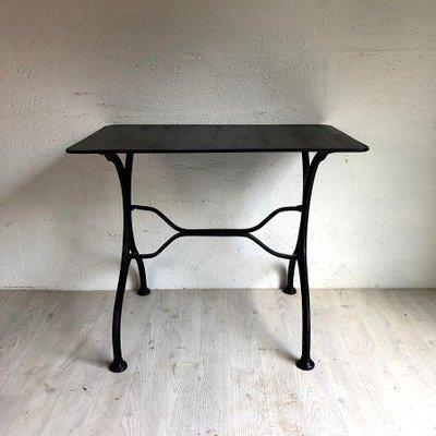 Tavolo Da Giardino Metallo.Tavolo Da Giardino Vintage In Metallo Nero Anni 50 In Vendita Su