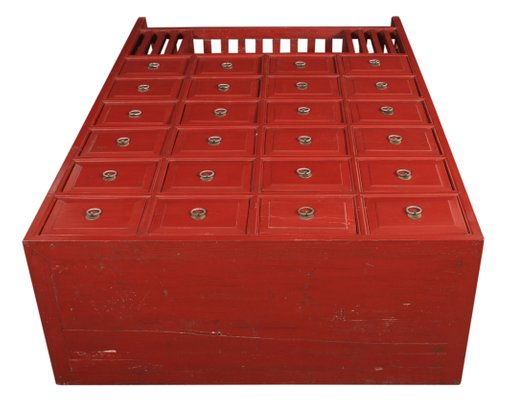 separation shoes 64108 44065 Chinese Red Apothecary Chest, 1920s