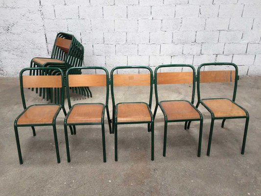Super Vintage Industrial Dining Chairs From Tolix 1930S Set Of 5 Alphanode Cool Chair Designs And Ideas Alphanodeonline