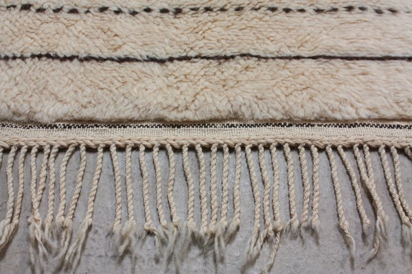 Incredible Vintage Moroccan Beni Ourain Woollen Rug With Stripes Ocoug Best Dining Table And Chair Ideas Images Ocougorg