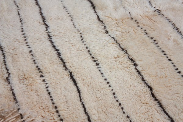Fine Vintage Moroccan Beni Ourain Woollen Rug With Stripes Ocoug Best Dining Table And Chair Ideas Images Ocougorg