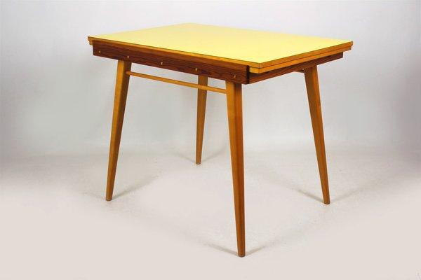 Table De Salle A Manger Pliante En Formica Jaune 1960s